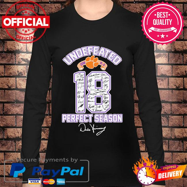 18 Cleveland Browns undefeated perfect season signatures s Long sleeve black