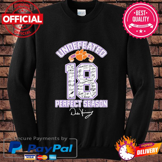 18 Cleveland Browns undefeated perfect season signatures s Sweater black