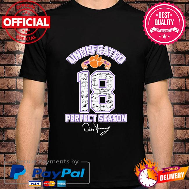 18 Cleveland Browns undefeated perfect season signatures shirt