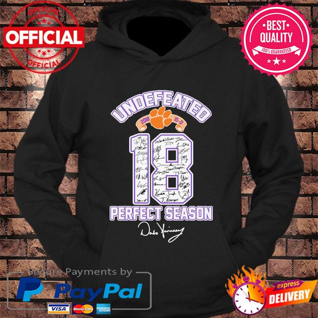 18 Cleveland Browns undefeated perfect season signatures s hoodie Black