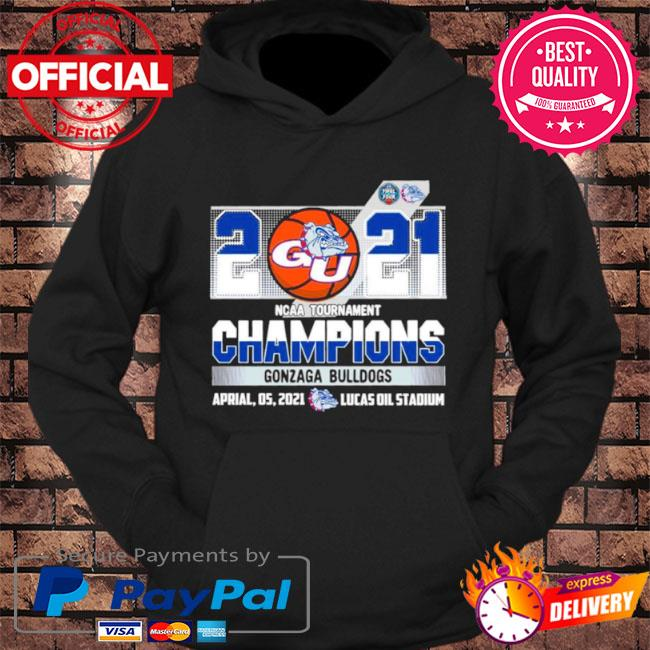 2021 ncaa tournament champions gonzaga bulldogs team basketball s hoodie Black
