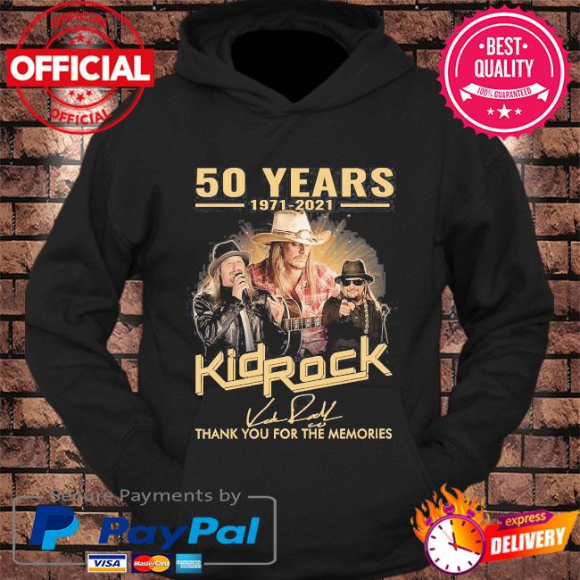 50 years 1971 2021 Kid Rock thank you for the memories signatures s hoodie Black