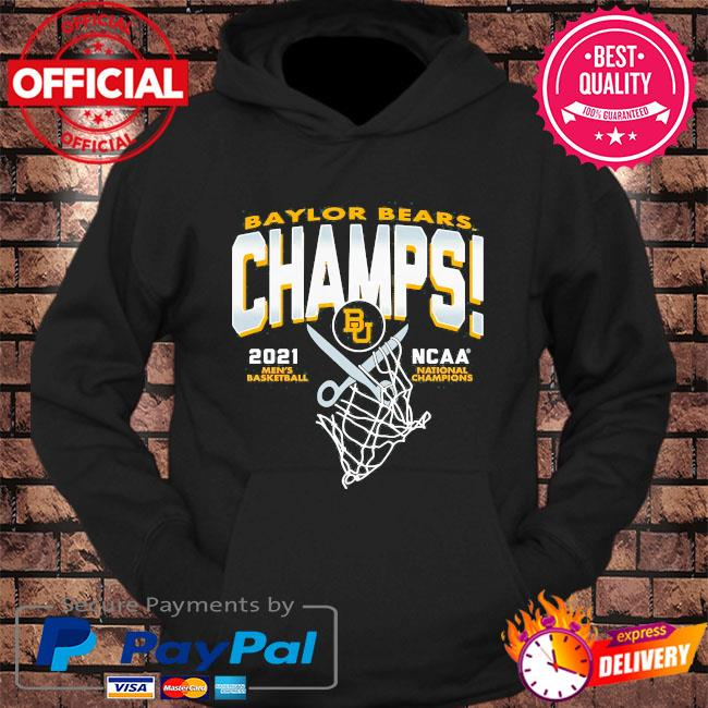Baylor bears blue 84 youth 2021 ncaa men's basketball national champions s hoodie Black