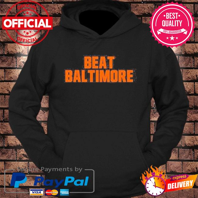 Beat baltimore cleveland football fan s hoodie Black