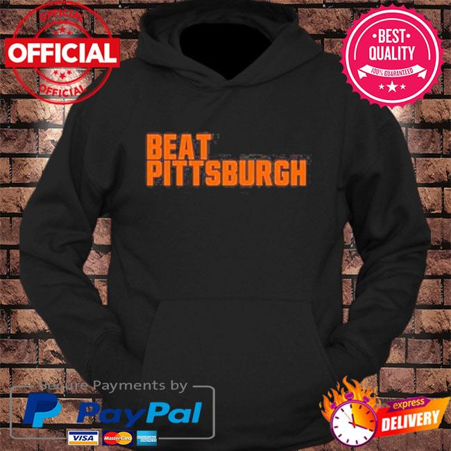 Beat Pittsburgh cleveland football fan s hoodie Black