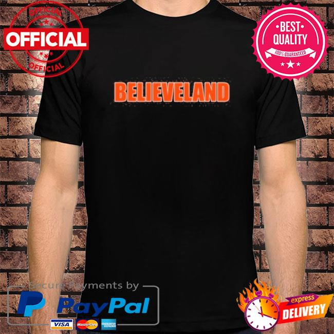 Believeland cleveland football fan shirt