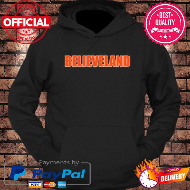 Believeland cleveland football fan s hoodie Black