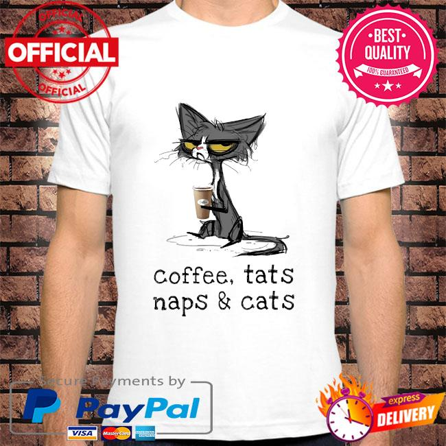 Black Cat Coffee cats naps and Cats shirt