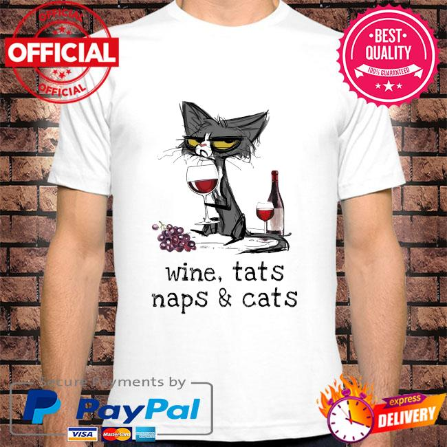 Black Cat Wine Cats naps and Cats shirt
