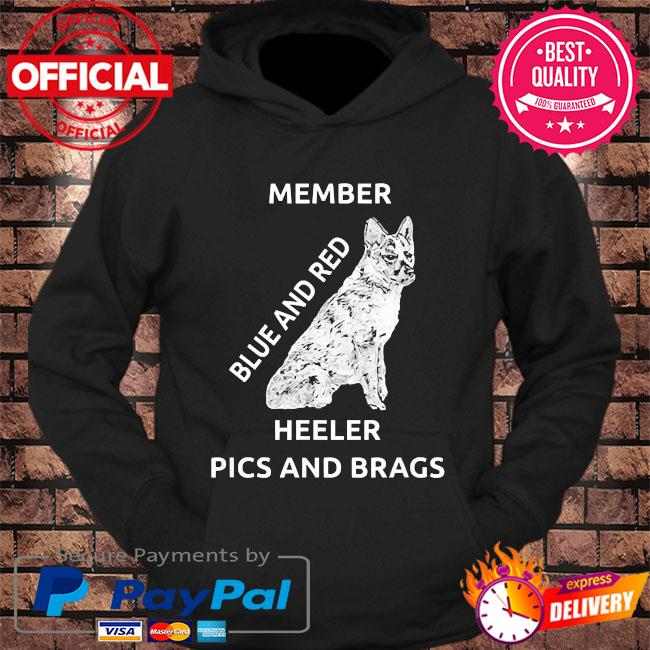 Blue and red heeler dog pics brags member love of dogs s hoodie Black