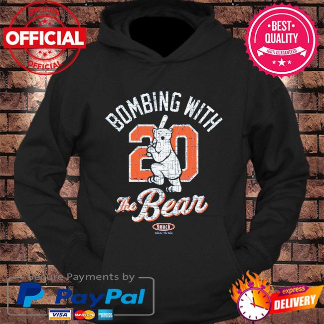 Bombing with 20 the bear smack s hoodie Black