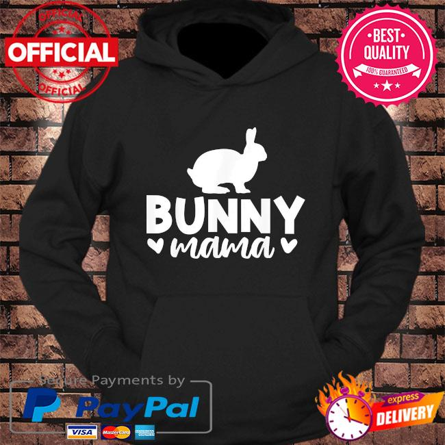 Bunny mama mother's day us 2021 s hoodie Black