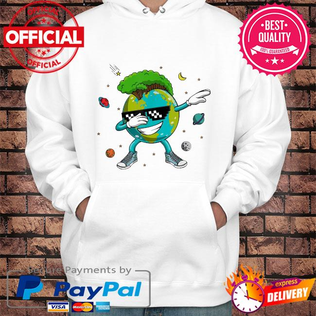 Dabbing earth day s Hoodie white