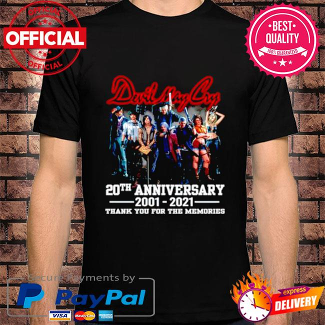 Devil may cry 20th anniversary thank you for the memories shirt