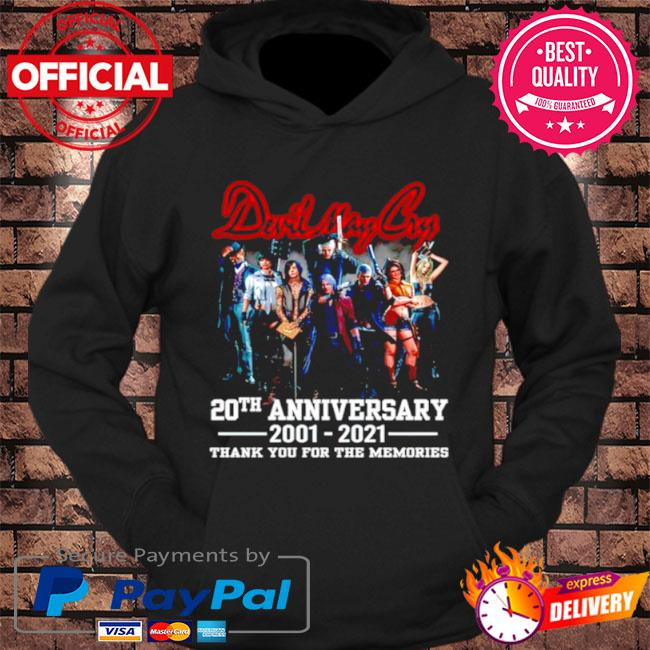 Devil may cry 20th anniversary thank you for the memories s hoodie Black