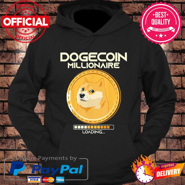 Dogecoin millionaire loading crypto cryptocurrency s hoodie Black