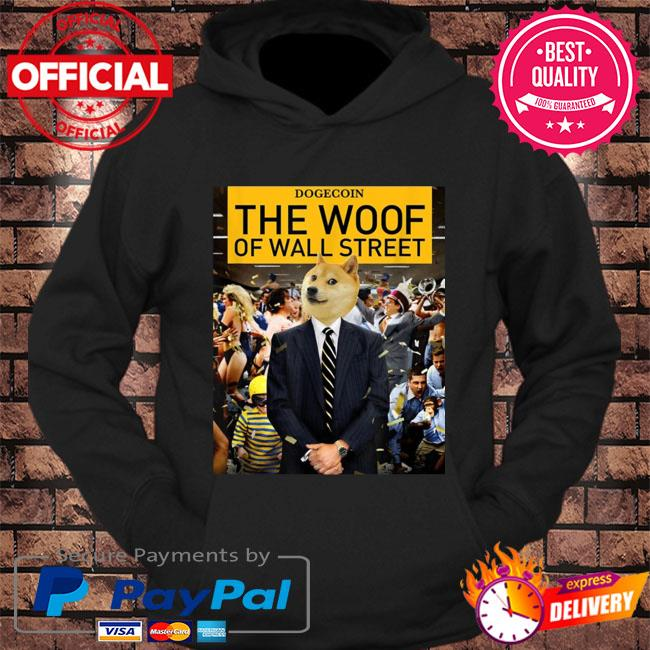 Dogecoin the woof of wall street s hoodie Black