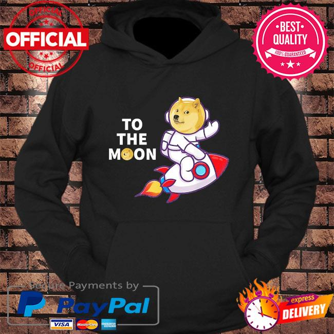 Dogecoin to the moon cool dogecoin cryptocurrency s hoodie Black