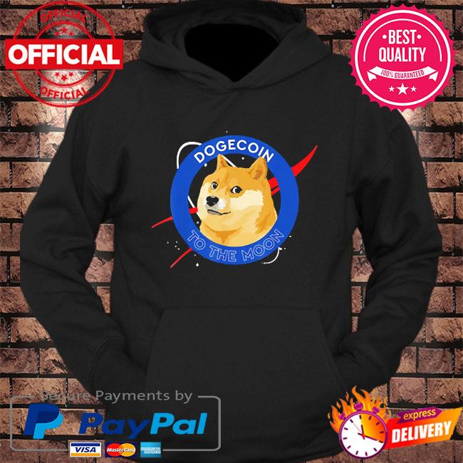 Dogecoin to the moon crypto meme s hoodie Black