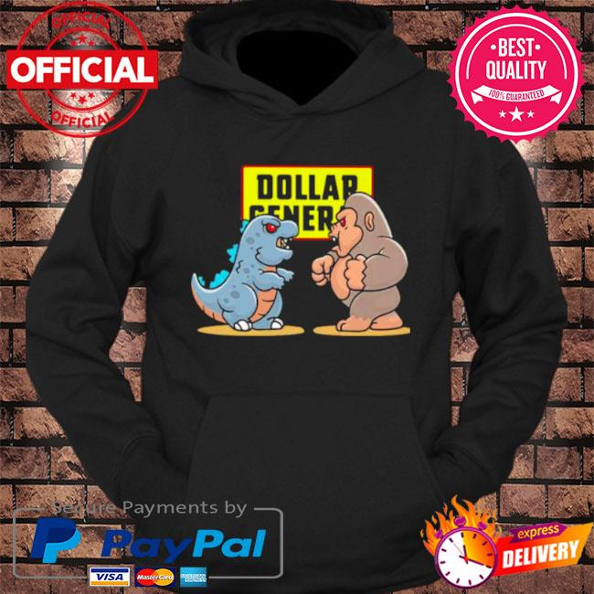 Dollar general baby kong and baby godzilla s hoodie Black