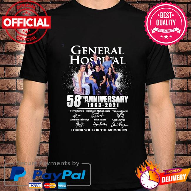 General Hospital 58th anniversary 1963 2021 thank you for the memories signatures shirt
