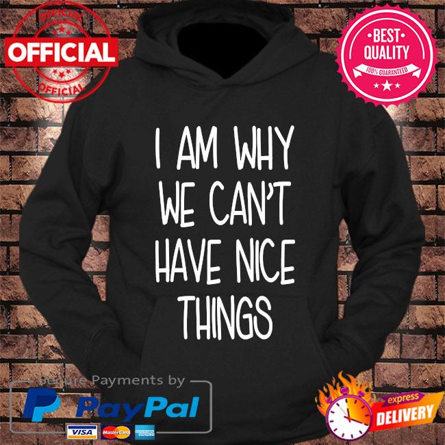 I'm why we can't have nice things s hoodie Black