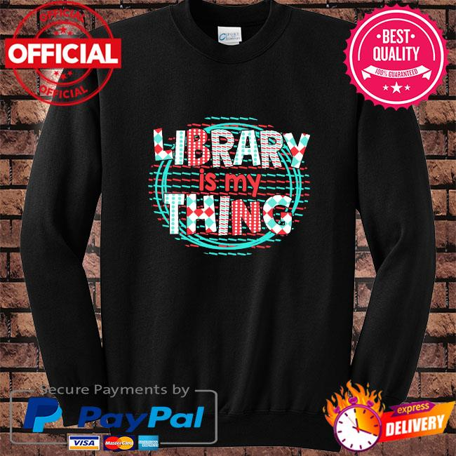 Library is my thing s Sweater black