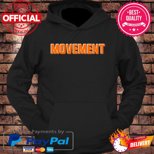 Movement cleveland football fan s hoodie Black