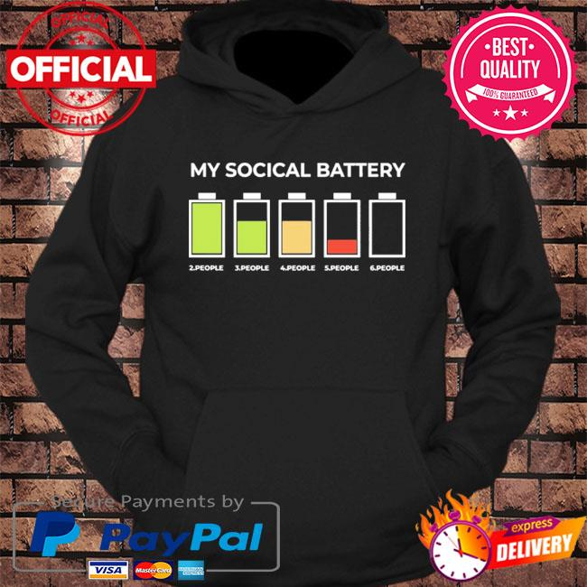My social battery 2 people 3 people 4 people 5 people 6 people s hoodie Black