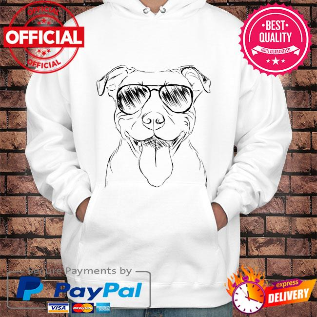 Pitbull face s Hoodie white