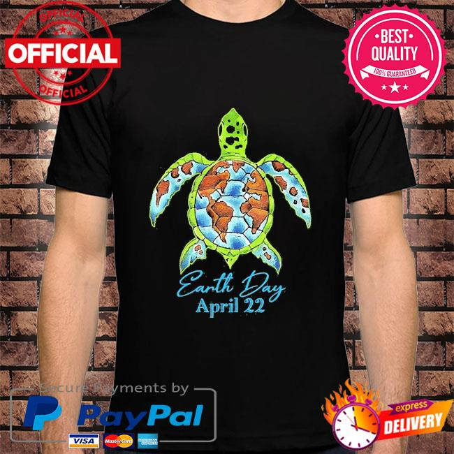 Sea turtle planet love world environment earth day shirt