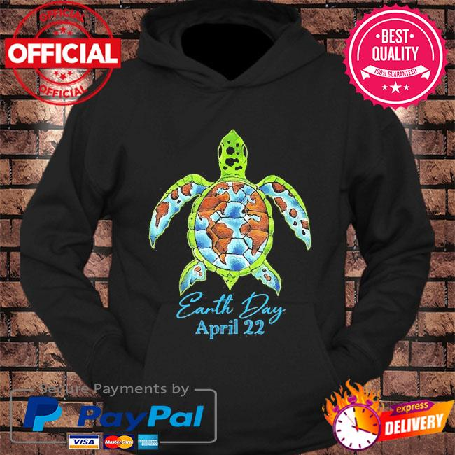 Sea turtle planet love world environment earth day s hoodie Black