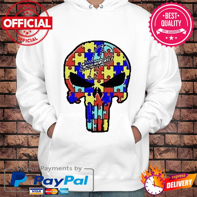 Skull Autism Autism Awareness s Hoodie white