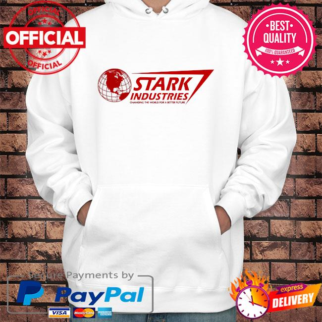 Stark industries changing the world for a better future s Hoodie white