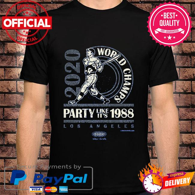World champs party like it's 1988 shirt