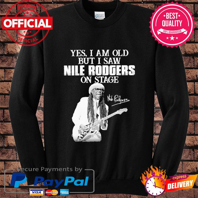 Yes I am old but I saw Rodgers on stage signatures s Sweater black