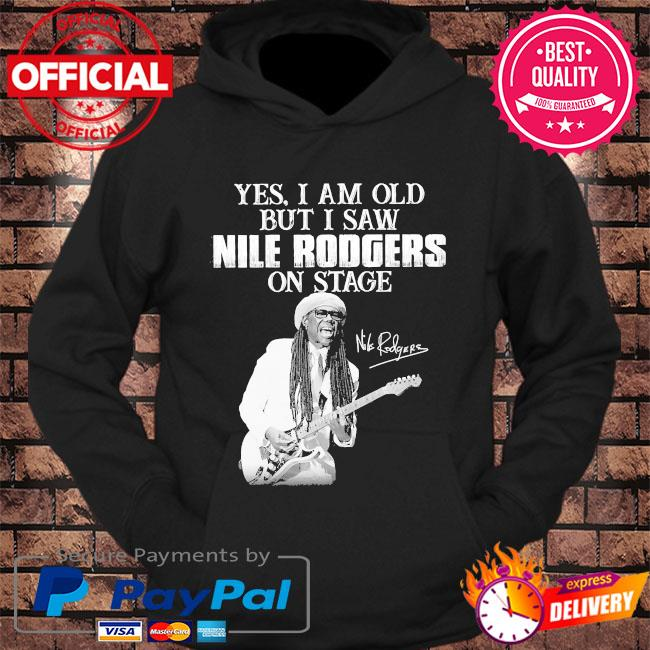Yes I am old but I saw Rodgers on stage signatures s hoodie Black