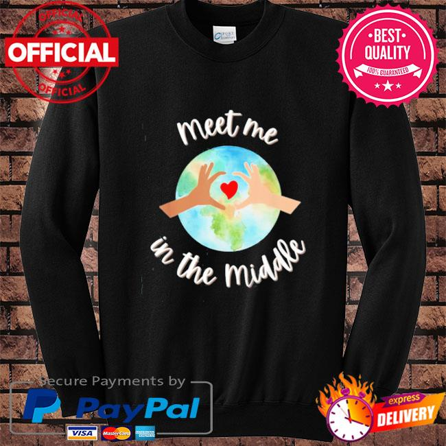 Let's just meet in the middle meet me in the middle cool s Sweater black