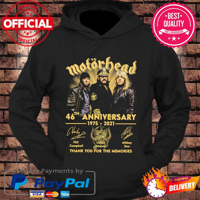 Motor Bead 46th anniversary 1975 2021 thank you for the memories signatures s hoodie Black