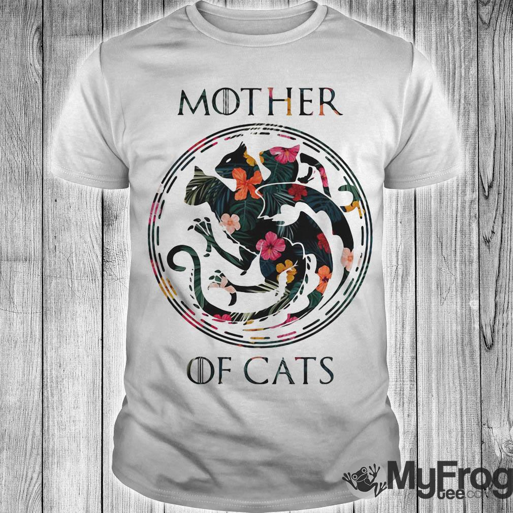 Game of Thrones Mother of cats floral shirt