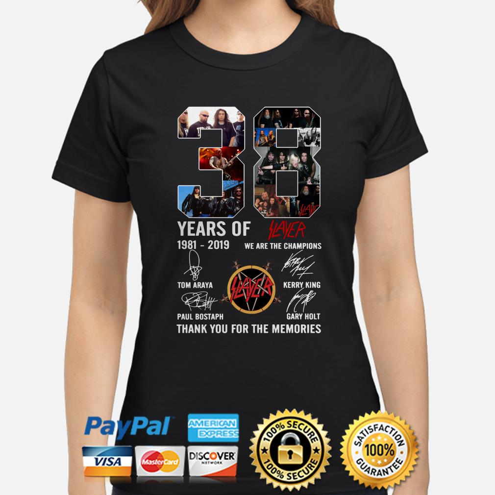 38 years of Slayer 1981-2019 thank you for the memories ladies shirt
