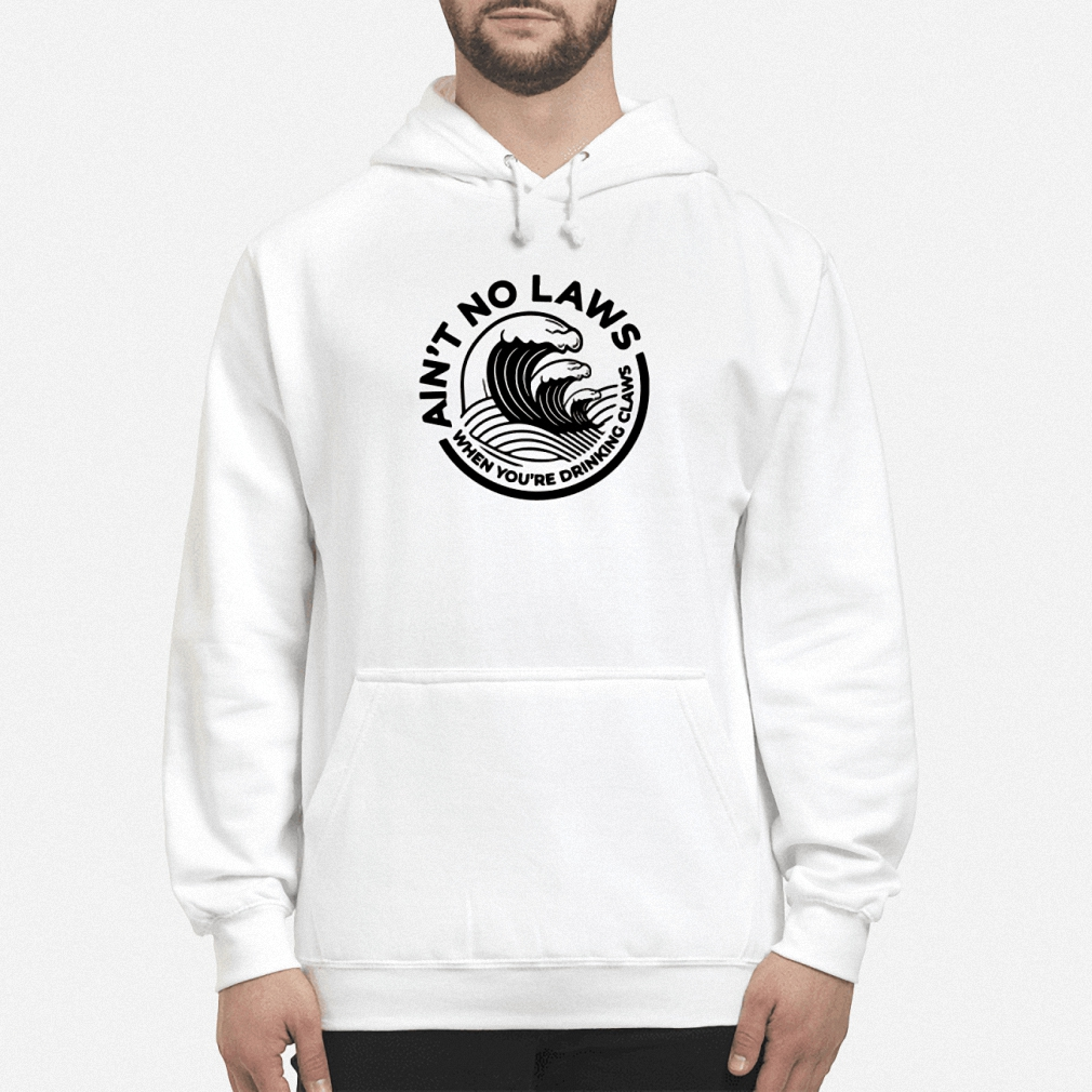 Ain't no laws when you're drinking claws hoodie
