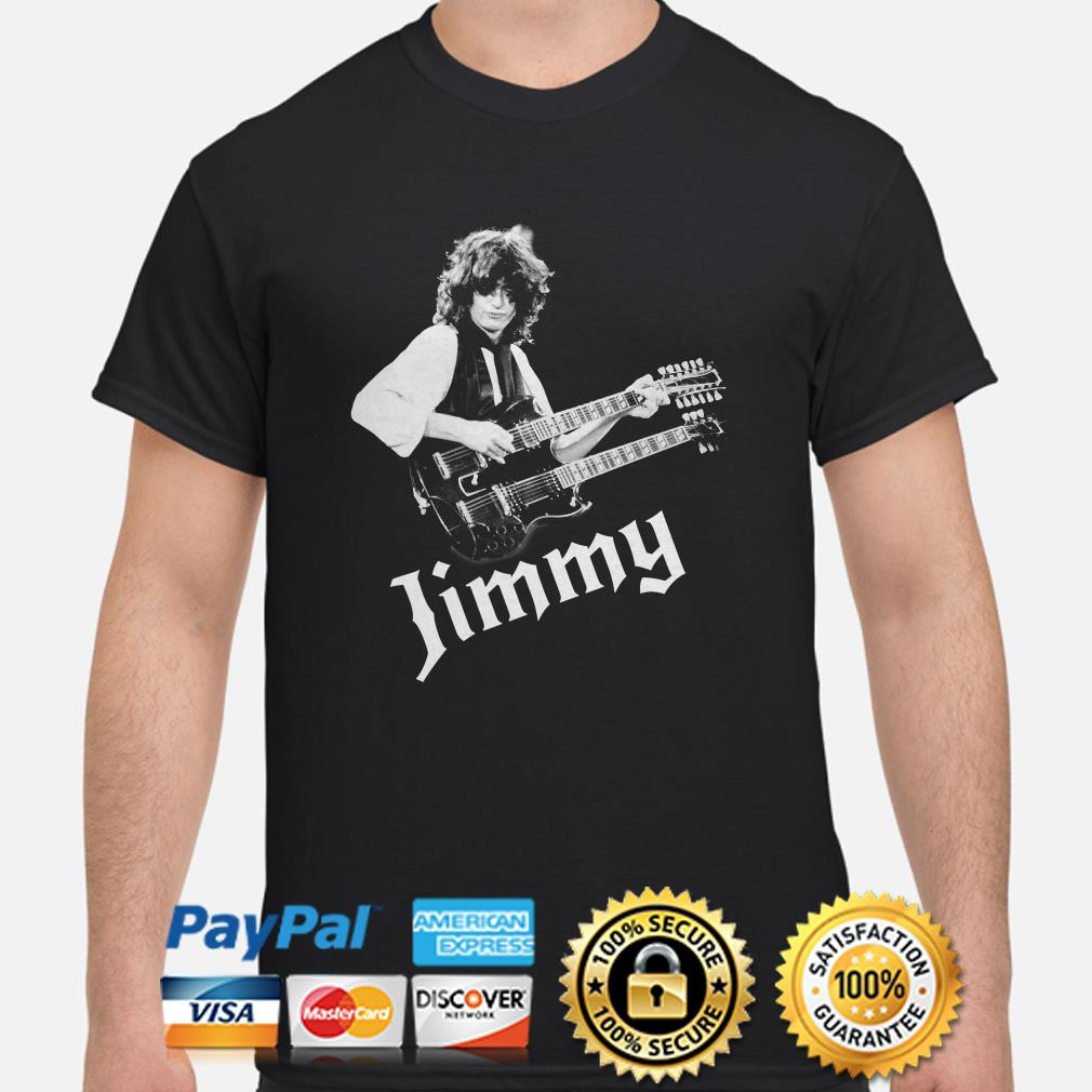 Jimmy Page Guitarist Led Zeppelin Rock shirt