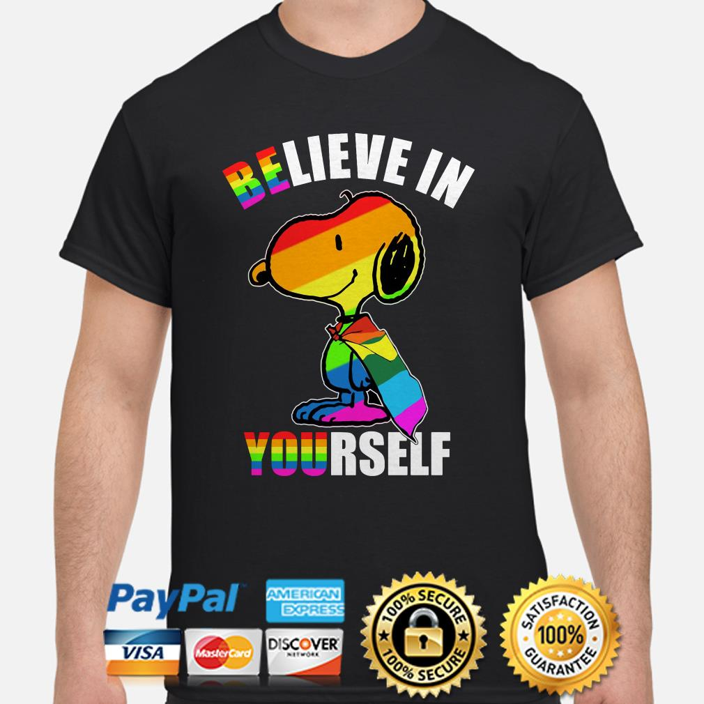 LGBT Snoopy flag Believe in yourself shirt