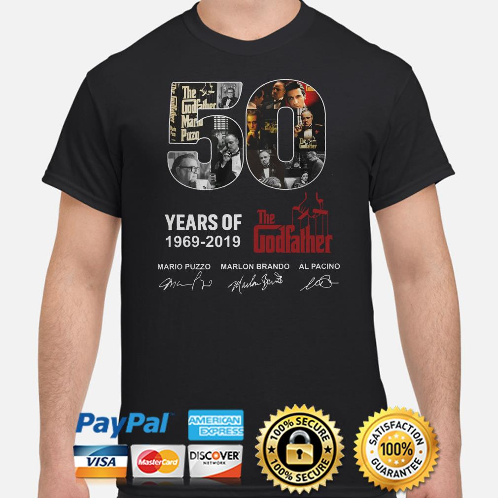 50 years of the Godfather 1969 2019 signatures shirt