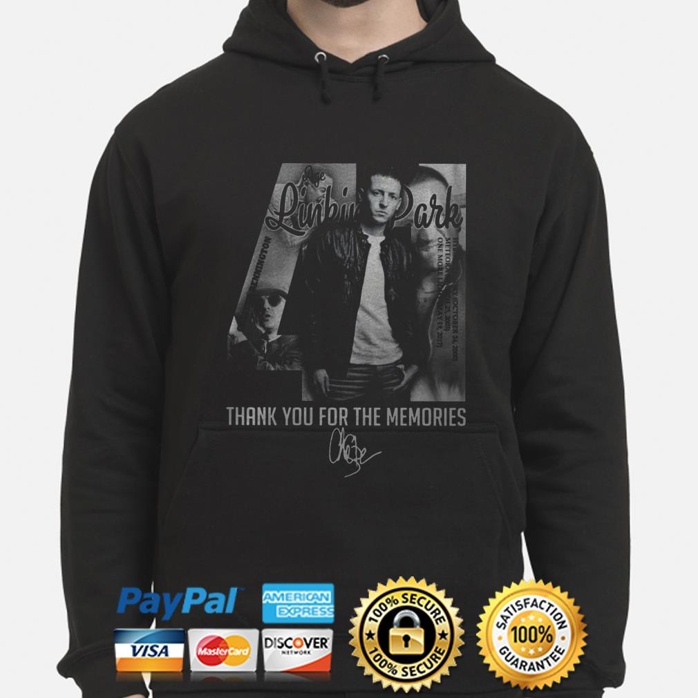 Chester Bennington Linkin Park 41 thank you for the memories hoodie