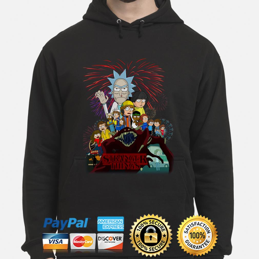 Rick and Morty Stranger Things hoodie