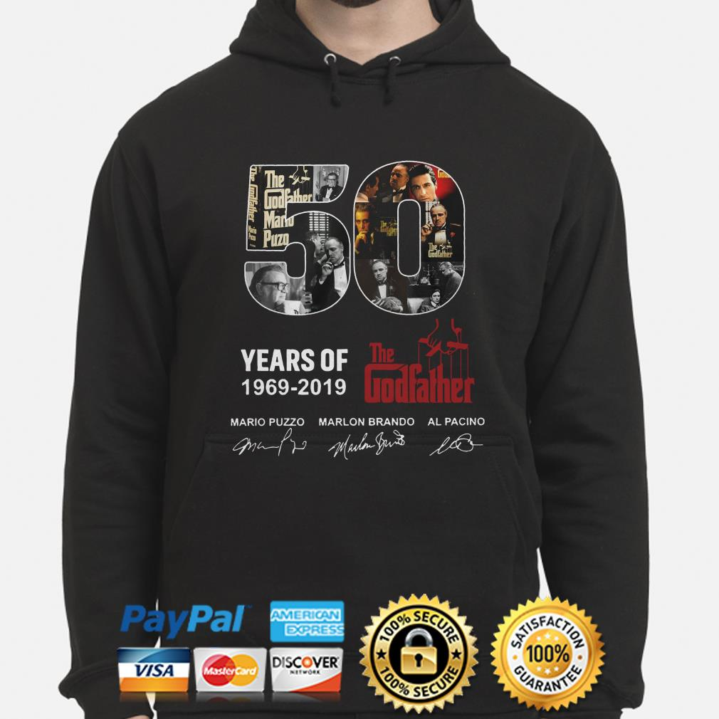 50 years of the Godfather 1969 2019 signatures hoodie