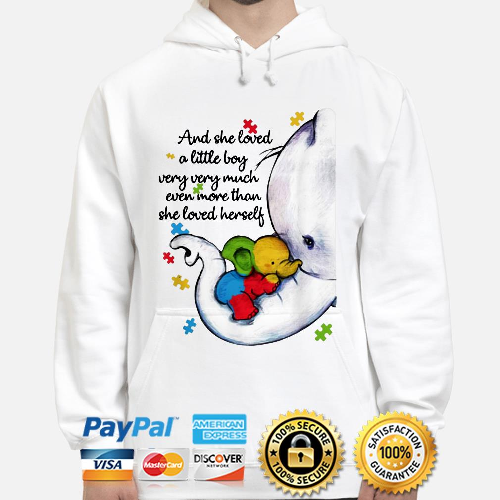 Autism Elephant mom and she loved a little boy very much more than she loved herself hoodie