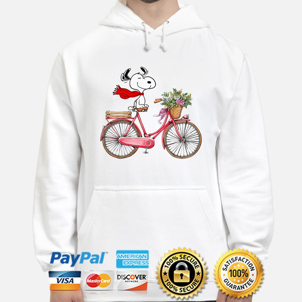 Snoopy riding bicycle hoodie